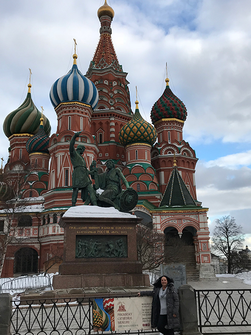 Visiting Saint Basils Cathedral, Moscow Russia